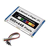 5.65inch E-Ink Display HAT ACeP 7-Color E-Paper Module 600×448 Pixels eink Display epaper HAT Compatible with Raspberry Pi 4B/3B+/3B/2B/Zero/Zero W/WH,Jetson Nano,Arduino,Nucleo