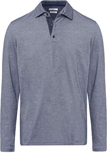 BRAX Herren Style Prescot Polo Langarmshirt, Ocean, Large (Herstellergröße: L)