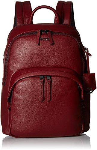 Tumi Voyageur Dori Leather Backpack Mochila Tipo Casual, 33 cm, Rojo (Brick)