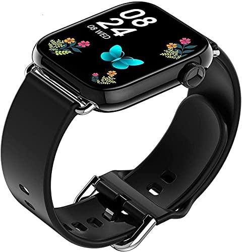 Smart Watch Fitness Watch 1.69 pulgadas Touch completo con monitor de frecuencia cardíaca Presión arterial SpO2 Sleep Monitor Activity Tracker IP68 Impermeable-Gris