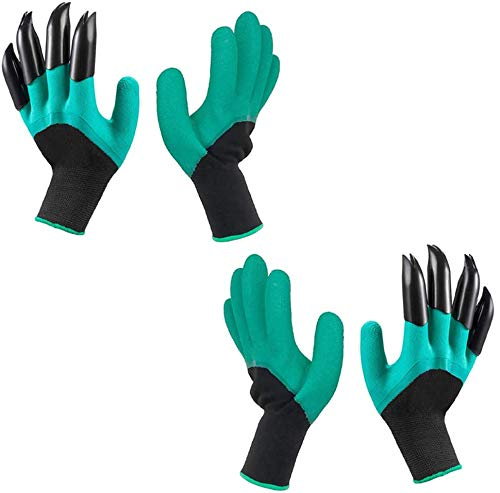 Inforest Waterproof Latex Gardening Gloves with Claws (2-Pairs) $3.99