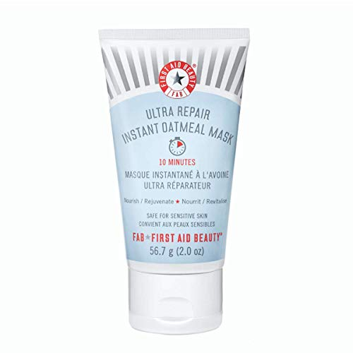 First Aid Beauty Ultra Repair Instant Oatmeal Mask – Hydrating Mask to Help Calm and Soothe Skin – 2 oz.