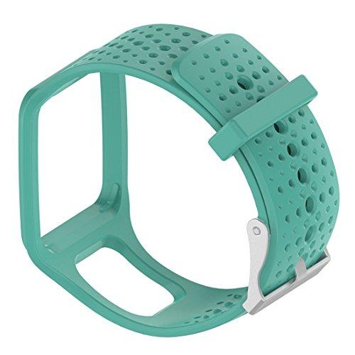 TomTom sostituzione Band–Motong Repalcement silicone elastico per TomTom multi-sport GPS Watch, TomTom multi-sport + Hrm, TomTom multi-sport cardio orologio e più Silicone Mint Green