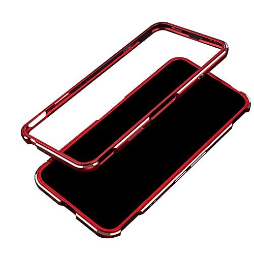 Nubia Red Magic 6用/6 Pro用 ケース/カバー タフカバー アルミケース 耐衝撃 頑丈メタルケース/カバー おしゃれ スマートフォン/スマフォ/スマホケース(レッド)
