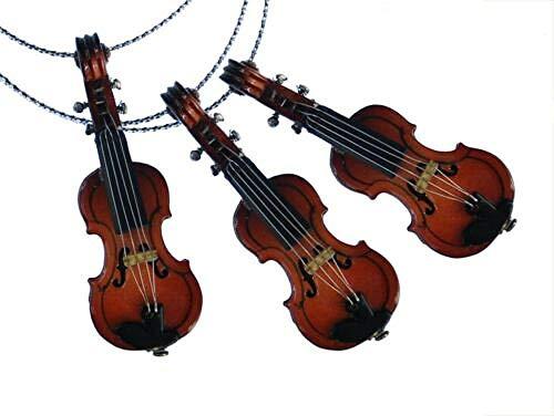 Ornamenti per Alberi di Natale Pendente per Albero di Natale in 3 Pezzi Decorazione per Albero di Natale Decorazione in Legno di Violino