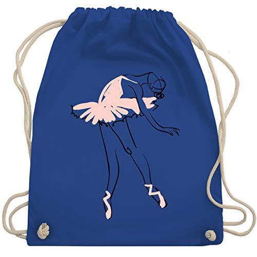 Shirtracer Tanzsport - Balletttänzerin Ballerina - Unisize - Royalblau - ballettbeutel mädchen - WM110 - Turnbeutel und Stoffbeutel aus Baumwolle