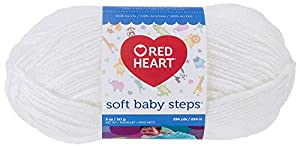 Red Heart E746.9600 Soft Baby Steps Yarn, Solid, White
