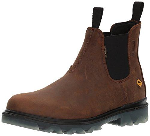 Wolverine Men's I-90 Waterproof Soft-Toe Romeo Slip-On Construction Boot, sudan brown, 13 Extra Wide US