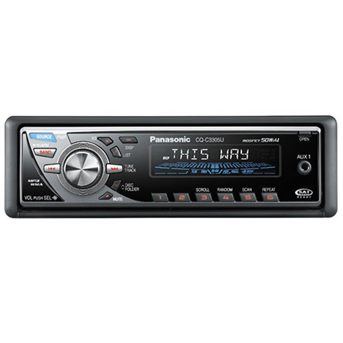 Panasonic CQ-C3305U Expansion-Module Ready WMA/MP3/CD Player/Receiver with CD Changer Control