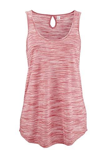ELFIN Damen Tops Tanktop Rundhals Ärmellos Shirt Lässig Oberteile Täglichen Sport Yoga Tee