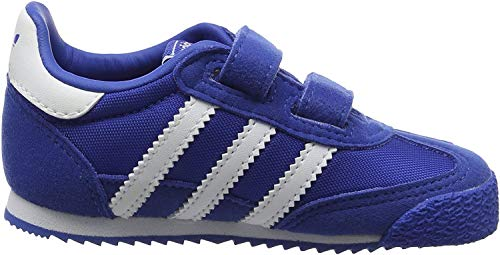 adidas Dragon OG CF, Formatori Bassi Unisex – Bambini, Blu (Blue/Ftwr White/Blue), 19 EU