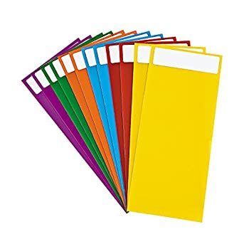 Fun Express Library Dividers with repositionable Stickers  Set of 12  Classroom and Teacher Supplies