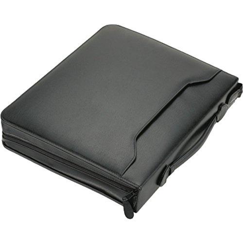 Alassio 31502 - Ringbuchmappe RIMINI im DIN A4 Format, Schreibmappe aus FINEtouch Lederimitat, Dokumentenmappe in schwarz, Mappe ca. 37 x 31 x 6 cm, Aktenmappe mit Tragegriff und CD Tasche