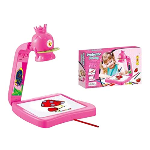 N/Q Smart Sketcher Projector | Kids Projector Sketcher | Kids Drawing Board Projector Painting Set | Juguetes de educación temprana | Regalo para niños, Rosa, Jirafa, Dinosaurio.