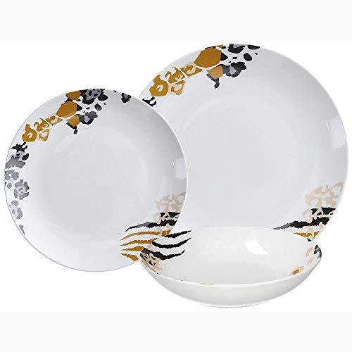 Tognana Savannah - Vajilla de 18 piezas, de porcelana fina, calidad extra