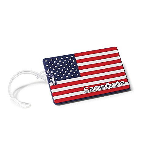 Samsonite Designer Luggage ID Tag, American Flag, One Size