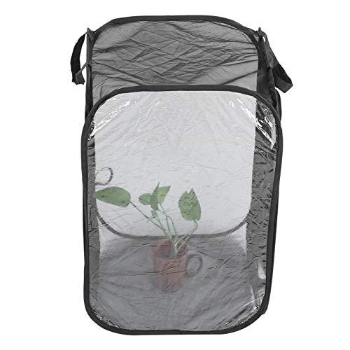 01 Insektenkäfig, belüfteter zusammenklappbarer wiederverwendbarer Nsect- und Schmetterlingslebensraumkäfig, Reißverschlussdesign ungiftig transparent für Insektenpflanzen