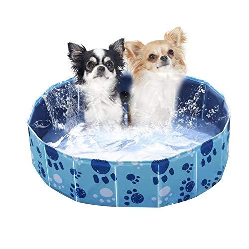 Wdmiya Piscina para Perros, Piscina Infantil para Niños, Bañera Plegable para Mascotas, Piscina al Aire Libre para Jardín y Patio (80cm X 20cm)