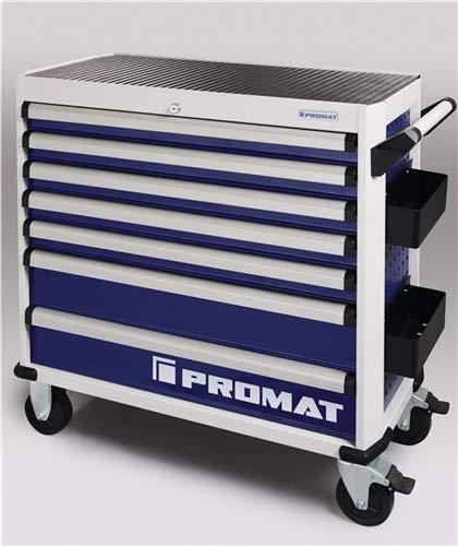 Werkzeugwagen PLUS B1010xT460xH990mm 500 kg 7 Schubladen Stahlblech PROMAT