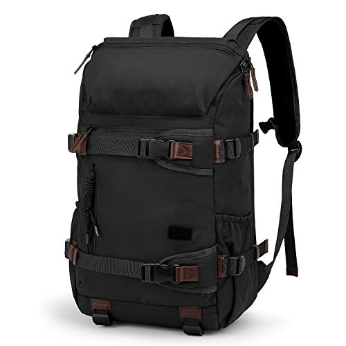 TAK Wanderrucksack Rucksack 40L Schulrucksack Reiserucksack Trekking Tagesrucksack,Wasserdichter, strapazierfähig und robust mit allerlei Stauraum, für das Camping, Wandern, Outdoor Sport, Schwarz