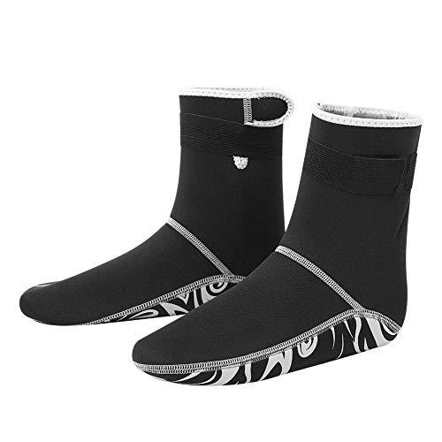 Calcetines de agua para mantener el buceo, buceo, snorkel, surf, natación, botas para mujeres y hombres, 1 par 5 tamaños (S-XXL) (XXL)