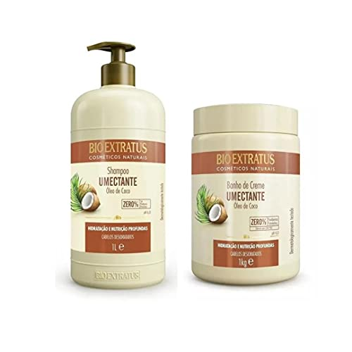 Shampoo Limpeza Umectante Óleo De Coco Bio Extratus 1 Litro