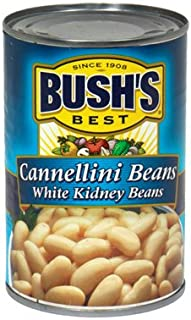 Bush's Best, Cannellini Beans White Kidney Beans, 15.5oz Can (Pack of 6)