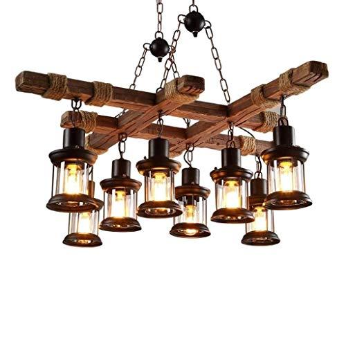 Indoor Hanglamp Retro Industrie LED Verlichting Kroonluchter Rustieke Antieke Woonkamer Slaapkamer Restaurant Bar Decoratie Plafond Lamp [Energie Klasse A +]