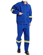 Lasjas, Werkkleding Voor Werkkleding, Vlamvertragende Doek Ademend Voldoen Aan De Nationale Norm GB89865.1-2009-Technologie Vlamvertragend Brandpreventiepak,Black,XXL