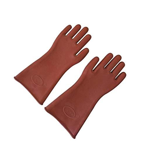 dailymall 1 Paar Elektriker Handschuh 12KV Hochspannungs Isolierter Elektrohandschuhe aus Hochwertigem Gummi