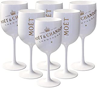 Moet & Chandon Ice Imperial White & Gold Acrylic Champagne Goblets (6 Pack)