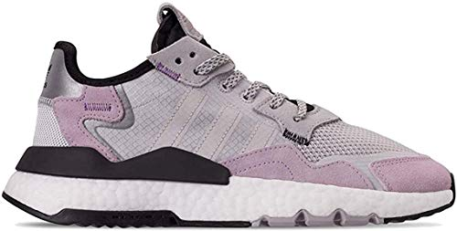 adidas Nite Jogger Womens Shoes Size 7.5, Color: Grey/Lavender