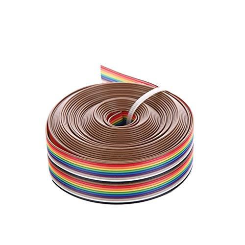 HUANRUOBAIHUO 5M 1,27 Millimetri 20P Cavo Rainbow Flat Line Support Filo Saldato Legare del Cavo connettore a 20 Pin for Arduino DIY Kit Parti della Stampante 3D (Color : 5M)