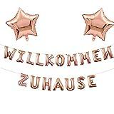 Guirnalda de bienvenida para el hogar, globo con estrellas y lentejuelas, para casa, bienvenida al bebé, recepción de fiesta, decoración (champán)