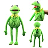 Natseekgo 23.6 inch Frog Puppet Plush,Kermit The Frog Puppet Hand Puppet Full Body Christmas Birthday Gifts for Kids