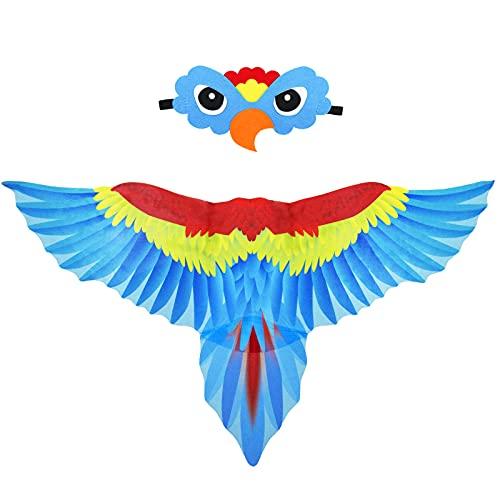 Mifun Parrot-Costume Bird-Wings for Kids with Bird...