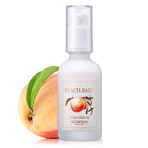 SKINFOOD Peach Sake Pore Serum - Pore Minimizer & Sebum Control - Skin Smoothing Facial Serum for Oily Skin - Pore Refining Serum & Pore Tightening - Acne Reducer & Minimizing Serum - 45ml (1.52 oz)