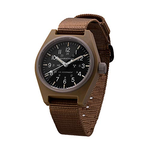 Marathon General Purpose Mechanical (GPM) Military Field Watch with Tritium and Sapphire Glass...