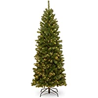 National Tree Company 6-ft. Pre-Lit North Valley Spruce Pencil Slim Artificial Christmas Tree