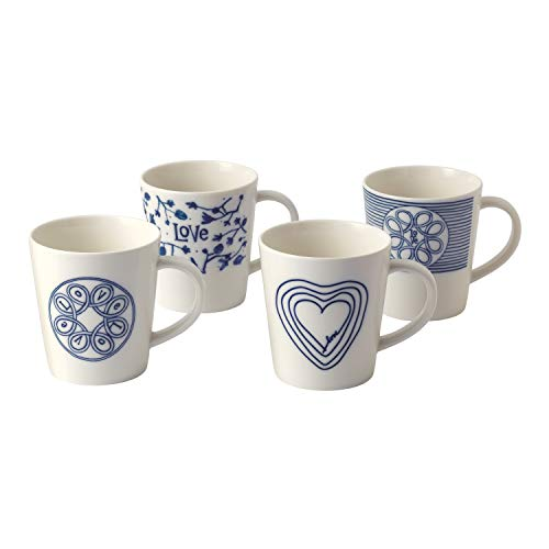 Royal Doulton Tasse Love, blau, 475 ml, Set von 4