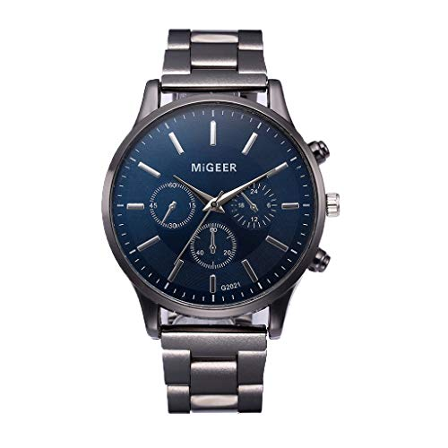 Armbanduhr männer Liusdh Uhren Wasserdichte datum led digital sport quarz analog herren silikon band uhr(Black,Einheitsgröße)