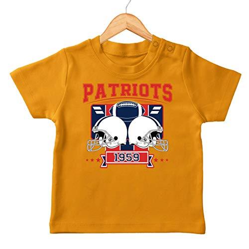 Patriots 1959 New England Pats Football An Jedem Verdammten Sonntag Super Bowl Premium Baby T-Shirt Babyshirt, Farbe:Orange (Orange BZ02), Größe:18-24 Monate