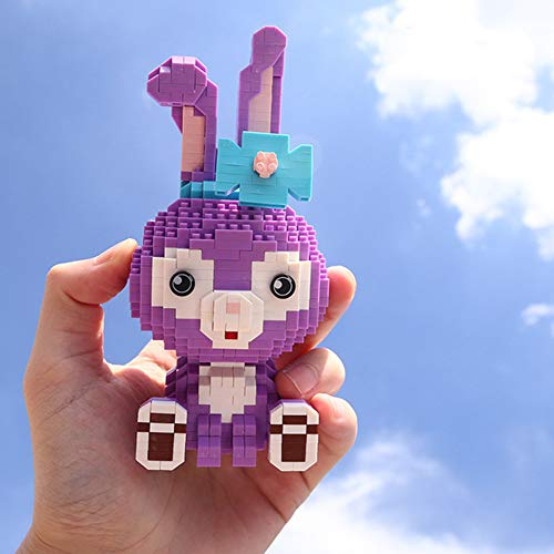 Modelo de conejo, juego de 1020 piezas – Nano Micro Blocks Diamantes DIY Juguetes Regalos para niños (púrpura)