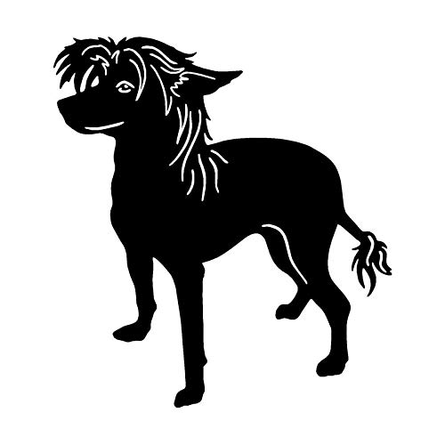 11.7 * 12.7CM Chinese Crested Dog Lovely Classic Animal Car Styling Decorative Stickers Personalized Car Tail Decals C6-0725