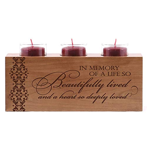 LifeSong Milestones Memorial Funeral Candle Holder