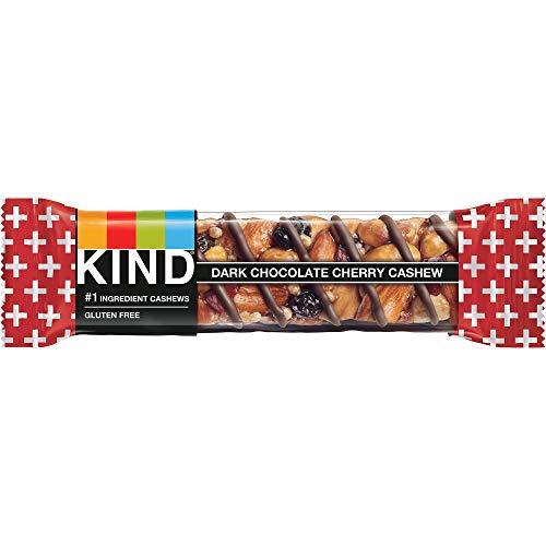 Peaceworks Tipo Plus, anacardo Cereza Chocolate Oscuro + antioxidantes, Barras Libres de Gluten (Pack de 12)