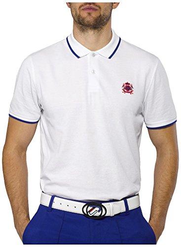 IJP Design - Golf-T-Shirts für Herren in White, Größe XS