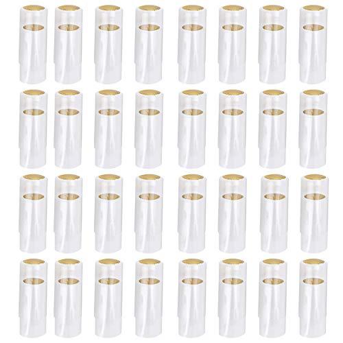 Cabilock 100 Stücke Schrumpfkapseln 30mm Weinflaschen Kapseln Flaschenkapseln Siegelkapseln Schrumpfkappen Kapseln für Weinkeller Wein Flaschen