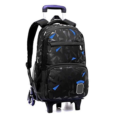 SHIJIAN Trolley School Bag - Sac à Dos détachable Hommes et Femmes High School Etudiants Tendance Loisirs Voyage Sac à Dos (Color : B)