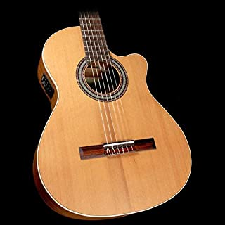 Alhambra Open Pore Collection OP1 Cutaway Classical Nylon String Acoustic Guitar Natural
